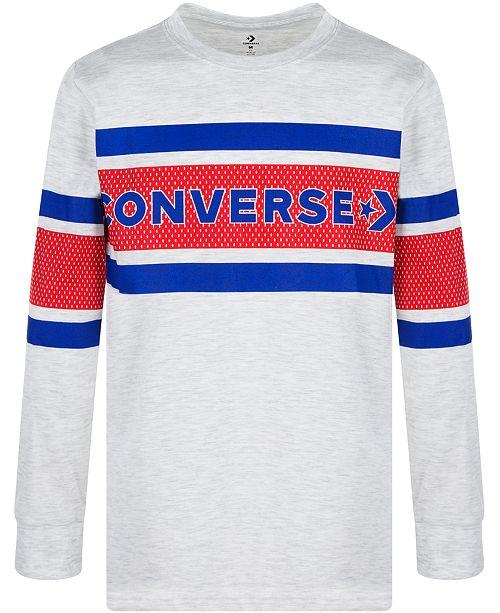 Converse Big Boys Logo Stripe T-Shirt