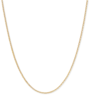 """Mirror Cable Link 16"""" Chain Necklace in 14k Gold"""