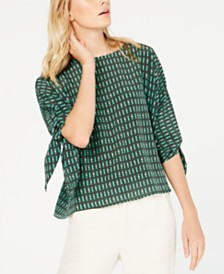 Weekend Max Mara Adone Printed Silk Shirt