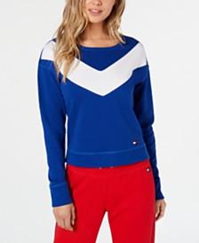 Tommy Hilfiger Sport Colorblocked Drop-Shoulder Top