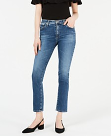 AG Jeans Mari Cropped Straight-Leg Jeans