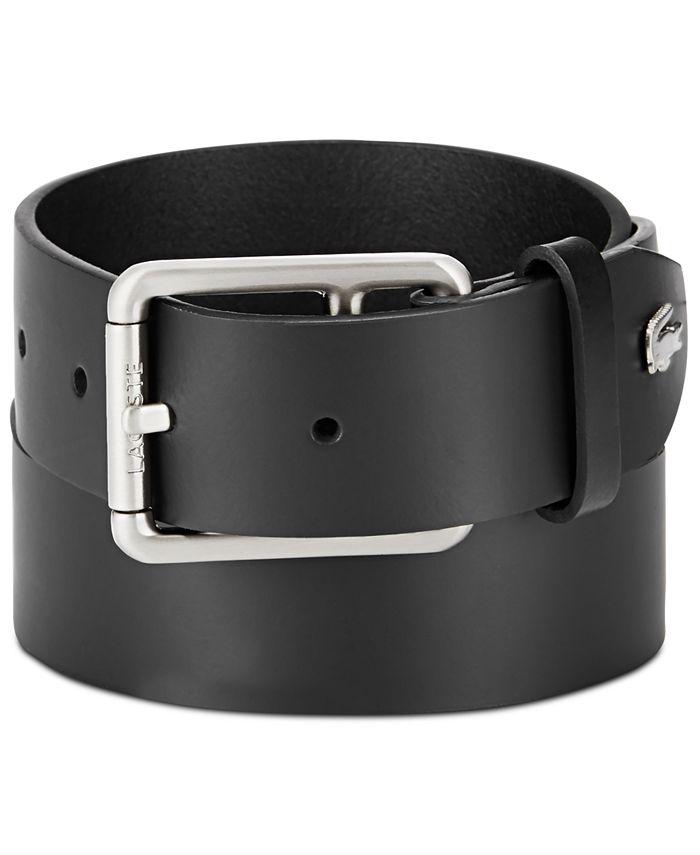 Lacoste - Men's Logo Buckle Leather Belt