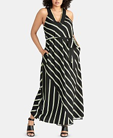 RACHEL Rachel Roy Plus Size Jacey Striped Racerback Maxi Dress