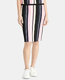 RACHEL Rachel Roy Olivia Striped Sweater Skirt