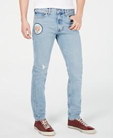 Calvin Klein Jeans Men's Slim-Fit Patch Destroyed Jeans
