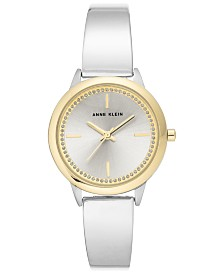 Anne Klein Women's Silver-Tone Bangle Bracelet Watch 32mm