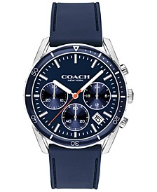 Men's Thompson Navy Leather Strap Watch 41mm