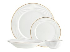 Godinger Inventure Gold 16-PC Plain Dinnerware Set, Service for 4