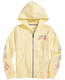 Volcom Big Girls Logo-Print Full-Zip Hoodie