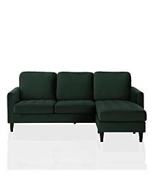 CosmoLiving by Cosmopolitan Strummer Velvet Reversible Sectional Sofa