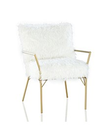 by Cosmopolitan Sully Accent Chair with Faux Fur Cushions