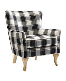 Bates Checkered Pattern Accent Chair
