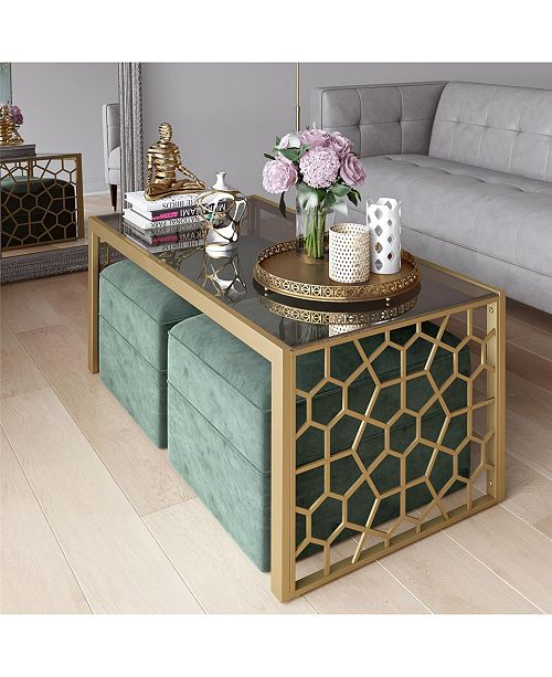Cosmoliving Bycosmopolitan Juliette Coffee Table And Two