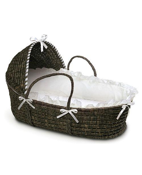 Badger Basket Espresso Moses Basket with Hood