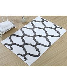 Saffron Fabs Geometric 36' x 24' Non-Skid Cotton Bath Rug