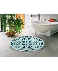 "Damask 36"" Anti-Skid Cotton Bath Rug"
