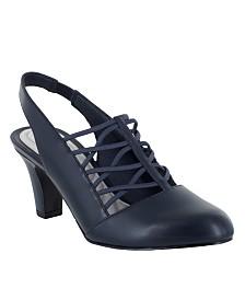 Easy Street Berry Slingback Dress Shoes