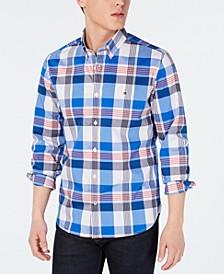 Men's Henderson Slim-Fit Stretch Performance Plaid Shirt