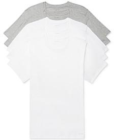 Men's 5-Pk. Cotton Classics Crew Neck Undershirts, Created for Macy's