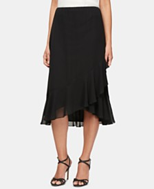 Alex Evenings Tulip-Hem Midi Skirt