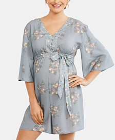 Motherhood Maternity Floral-Print Romper