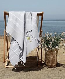 Lucky Breezy Palm Tree Pestemal Beach Towel