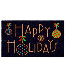 "Happy Holidays 17"" x 29"" Coir/Vinyl Doormat"