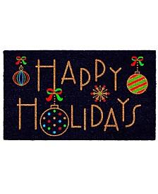 "Happy Holidays 17"" x 29"" Coir/Vinyl Doormat"