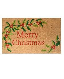 """Merry Christmas 17"""" x 29"""" Coir/Vinyl Doormat"""