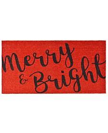 Merry and Bright 3' x 6' Coir/Vinyl Doormat