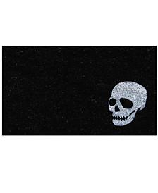 """Skull 17"""" x 29"""" Coir/Vinyl Doormat"""