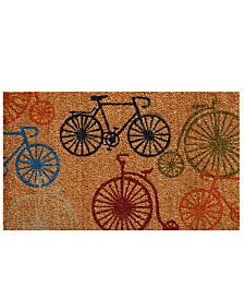 """Bicycles 24"""" x 36"""" Coir/Vinyl Doormat"""