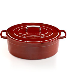 CLOSEOUT! Martha Stewart Collection Collector's Enameled Cast Iron 8 Qt. Oval Dutch Oven, Created for Macy's