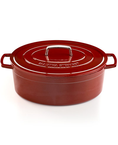 Martha Stewart Collection Collector's Enameled Cast Iron 8 Qt. Oval Casserole, Only at Macy's