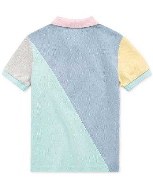 a522697a2 Polo Ralph Lauren Toddler Boys Patchwork Cotton Mesh Polo Shirt ...