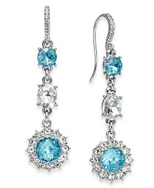Charter Club Crystal & Stone Linear Drop Earrings, Created for Macy's
