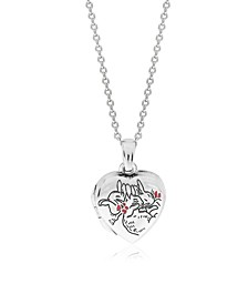 Beatrix Potter Sterling Silver Sleeping Bunnies Heart Locket Necklace