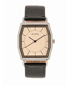Quartz The 5400 Bronze Dial, Genuine Black Leather Watch 40mm
