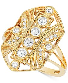 Vanilla Diamond Openwork Statement Ring (1/2 ct. t.w.) in 14k Gold