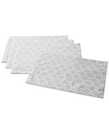 Boardwalk Dot Silver Placemats, Set of 4