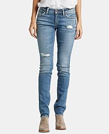 Suki Ripped Straight-Leg Jeans