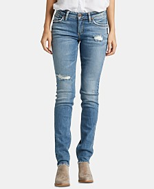 Silver Jeans Co. Suki Ripped Straight-Leg Jeans