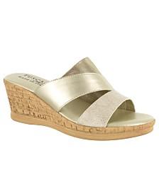 Tuscany by Easy Street Camari Wedge Sandals