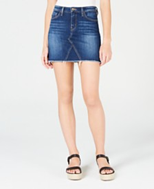 Flying Monkey High-Rise Mini Jean Skirt