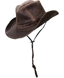 Dorfman Pacific Men's Weathered Shapeable Outback Hat
