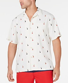 Tommy Bahama Men's Hu-La-La Classic-Fit Silk Camp Shirt, Created for Macy's
