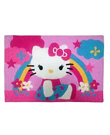 Sanrio Hello Kitty Stars and Rainbows Decorative Accent Rug