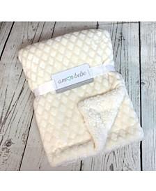 Diamond Plush Sherpa Baby Blanket