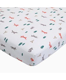 Carter's 100% Cotton Sateen Fitted Crib Sheet - Fox Toss