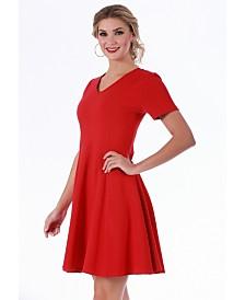 Lamonir Short V-Neck Dress